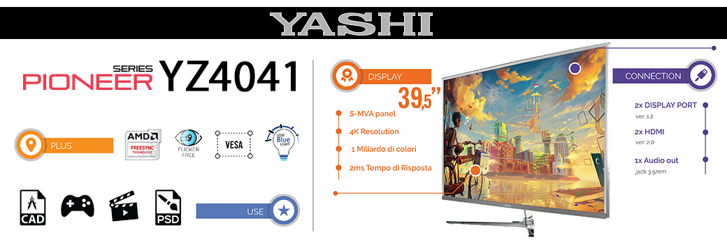 Yashi - monitor flat 4k