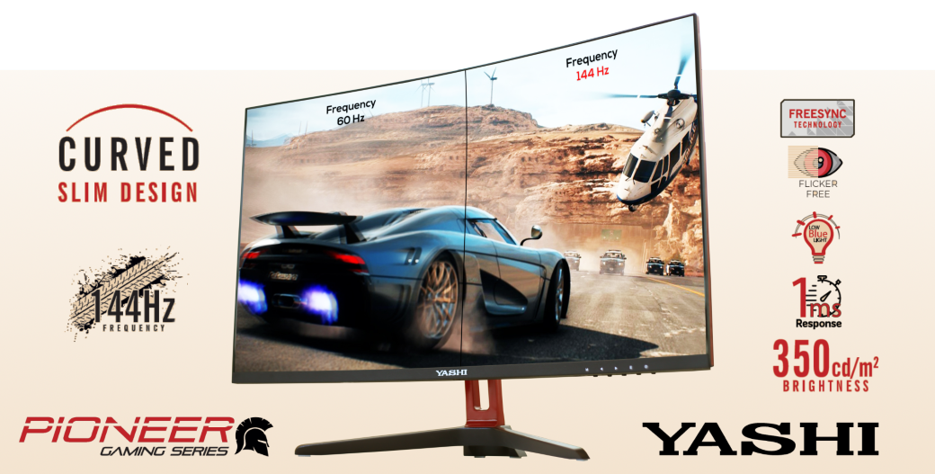 Yashi monitor curved - social